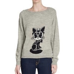 🎉HP🎉 French Connection Geeky Cat Wool Sweater